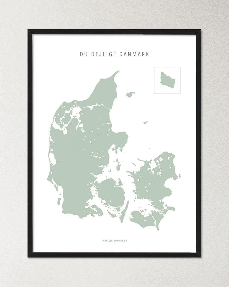 Danmarkskort - Pistachio