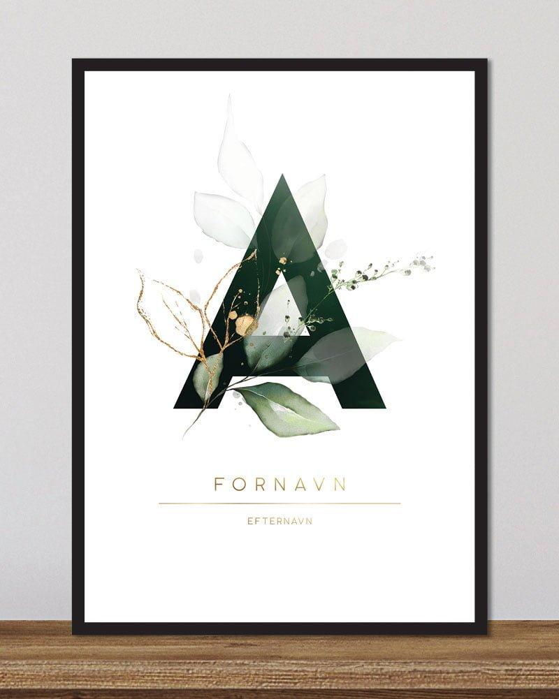 Image of   Floral bogstaver - A