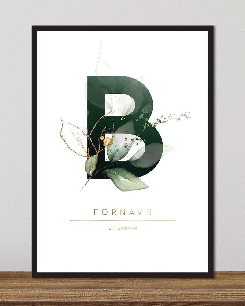 Image of   Floral bogstaver - B