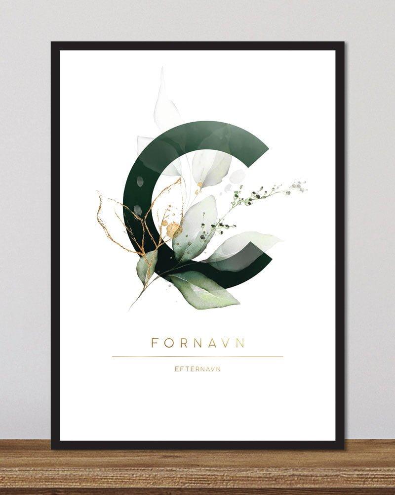 Image of   Floral bogstaver - C
