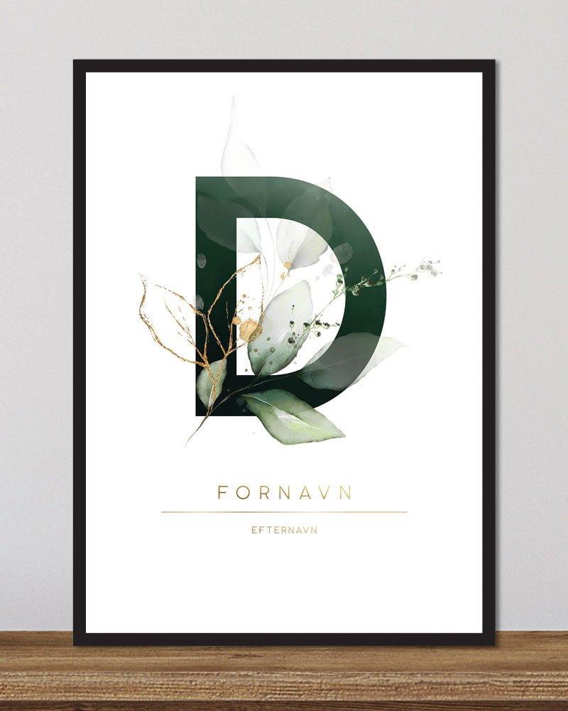 Image of   Floral bogstaver - D