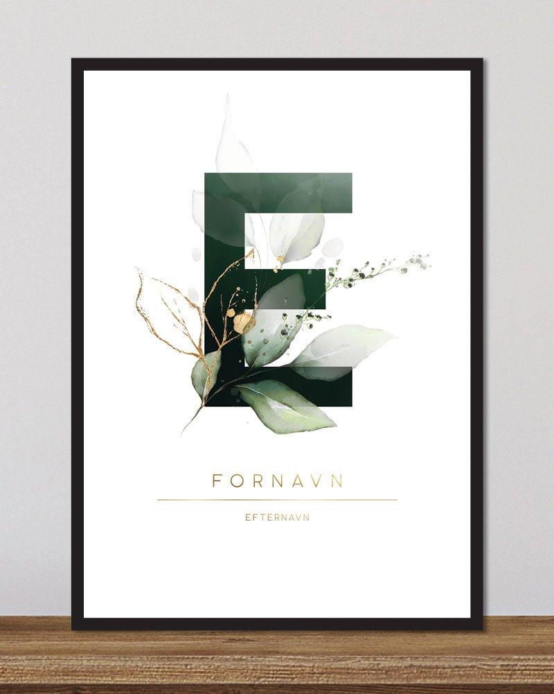 Image of   Floral bogstaver - E