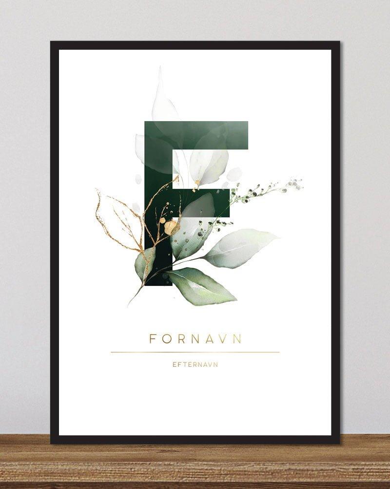 Image of   Floral bogstaver - F