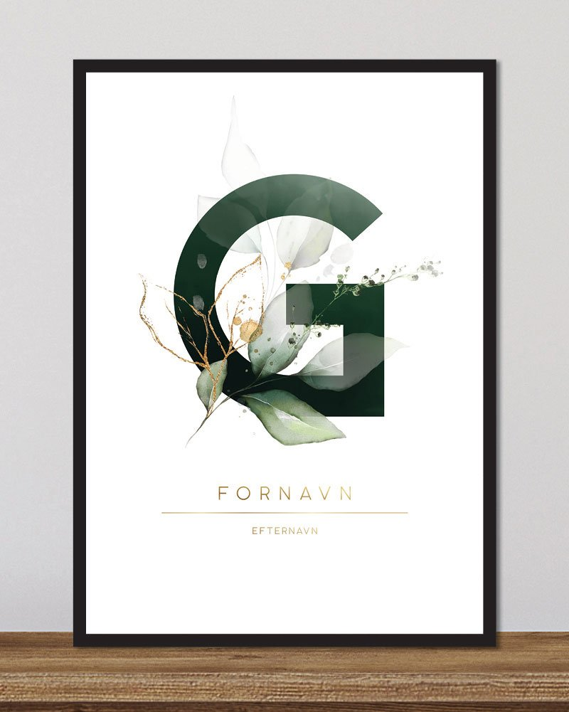 Image of   Floral bogstaver - G