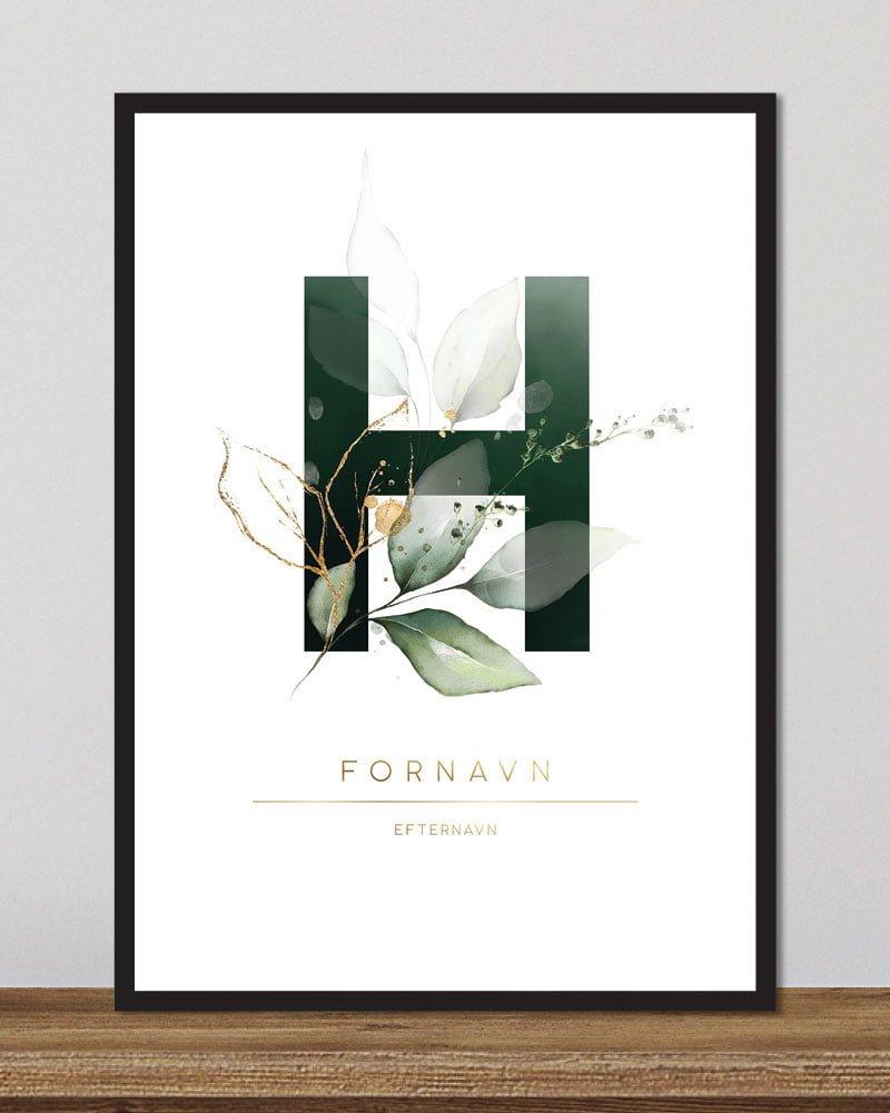 Image of   Floral bogstaver - H