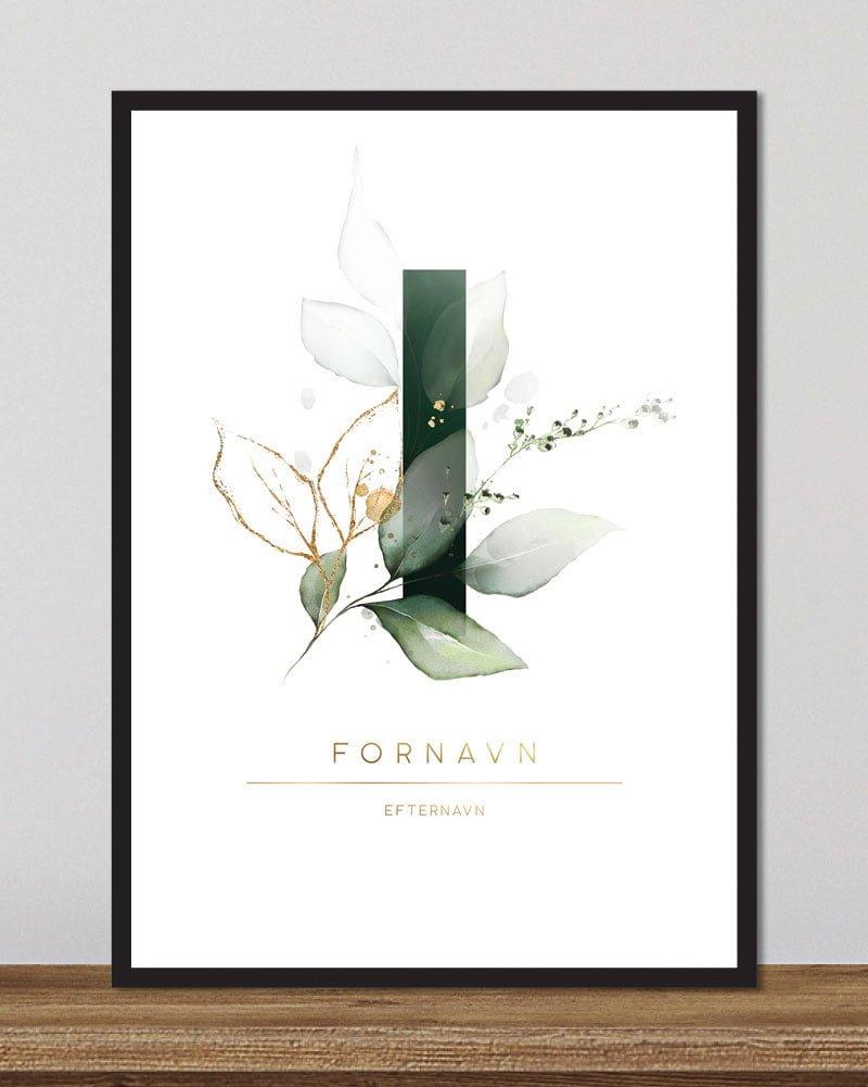 Image of   Floral bogstaver - I