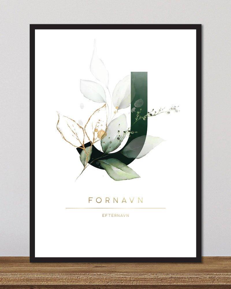 Image of   Floral bogstaver - J