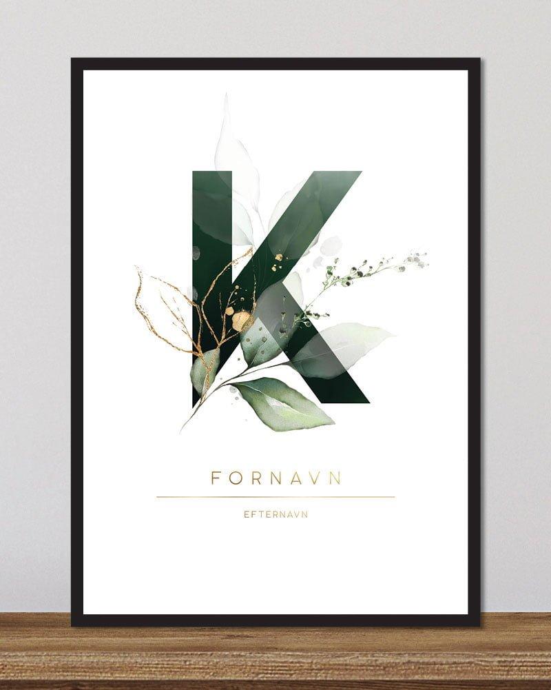 Image of   Floral bogstaver - K