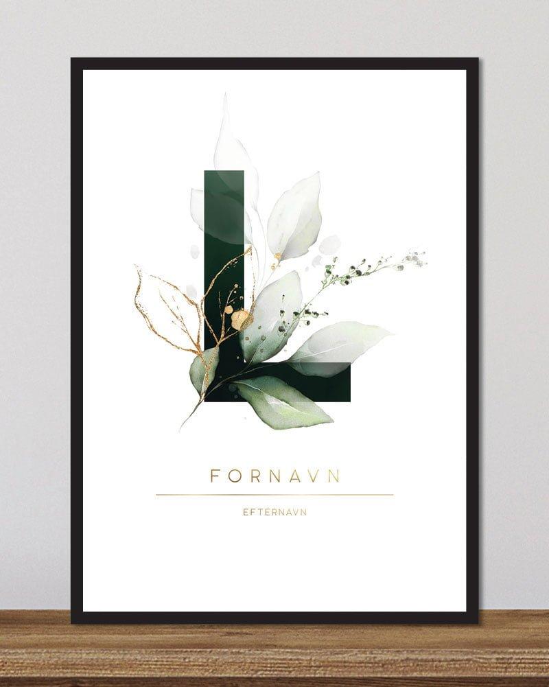 Image of   Floral bogstaver - L