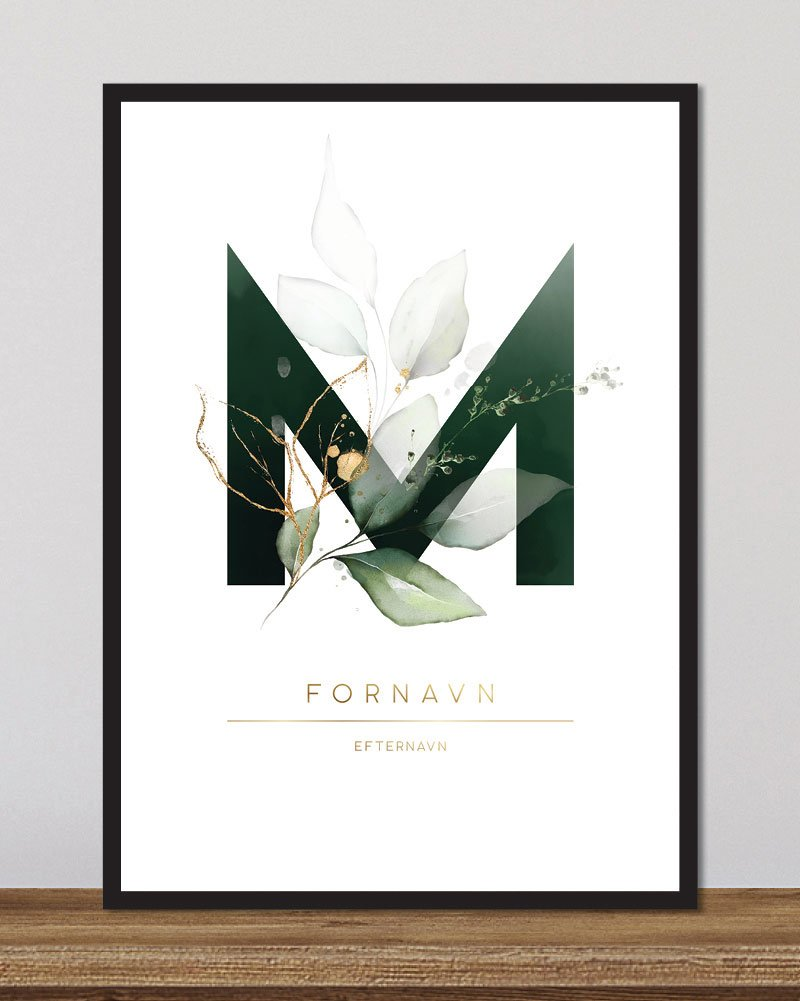 Image of   Floral bogstaver - M