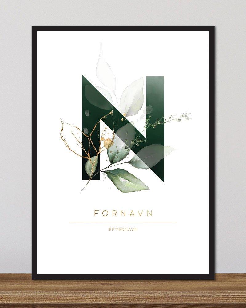 Image of   Floral bogstaver - N