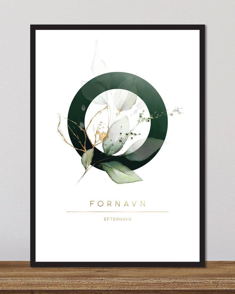 Image of   Floral bogstaver - O