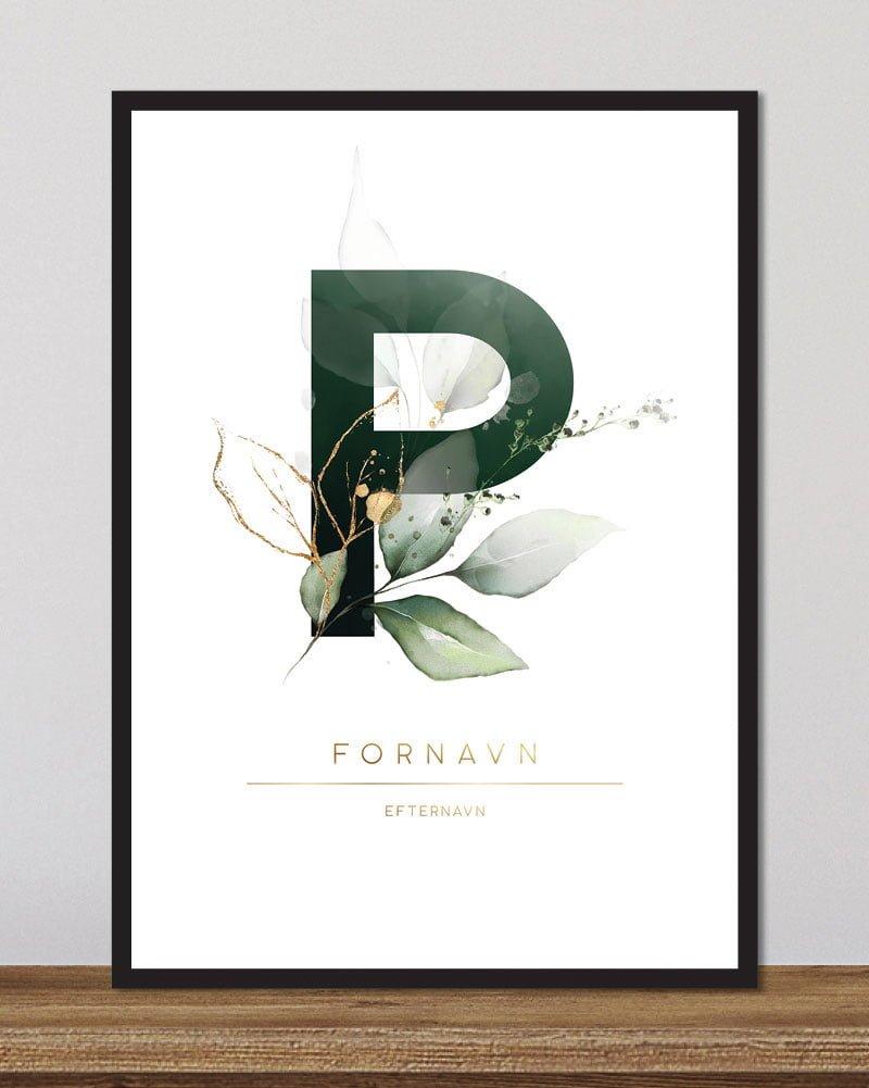 Image of   Floral bogstaver - P