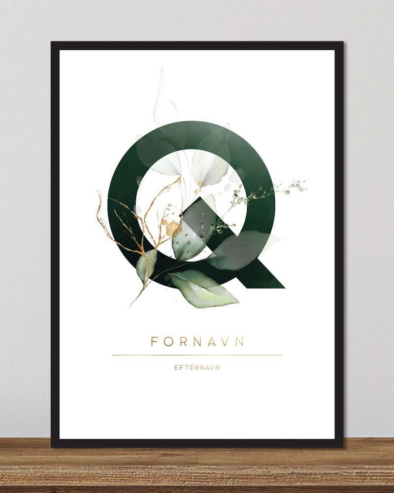Image of   Floral bogstaver - Q