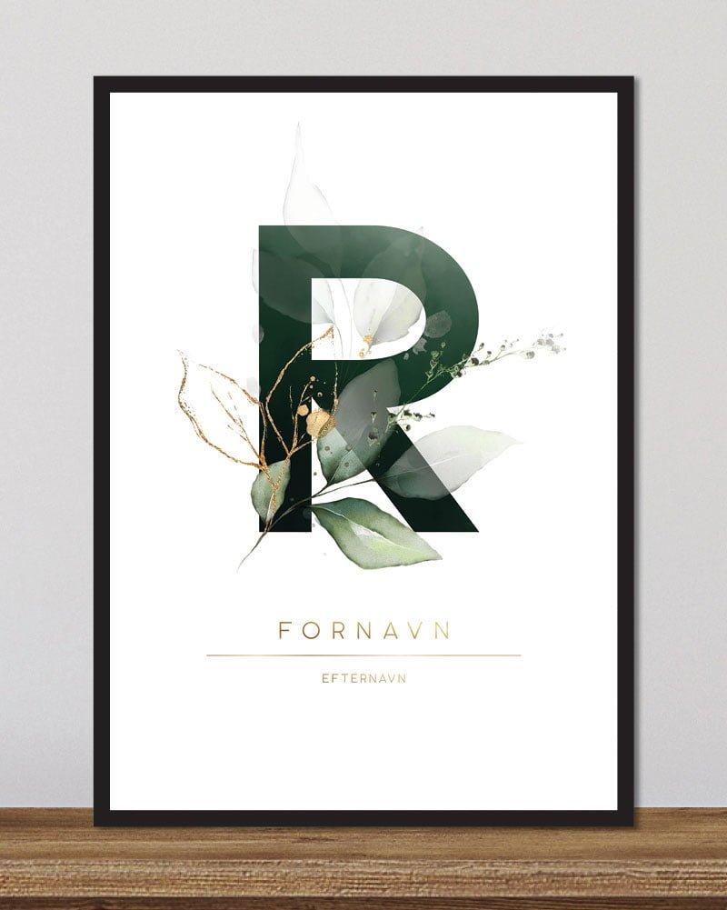 Image of   Floral bogstaver - R