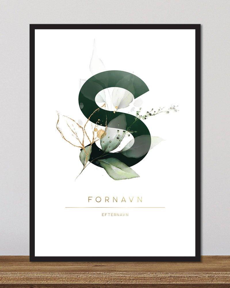 Image of   Floral bogstaver - S
