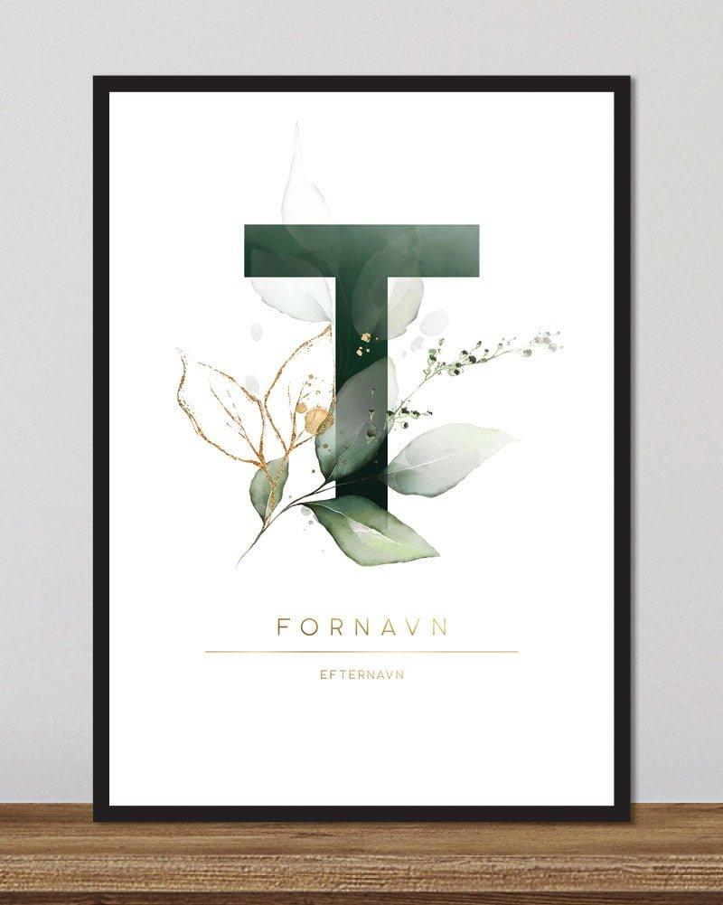 Image of   Floral bogstaver - T
