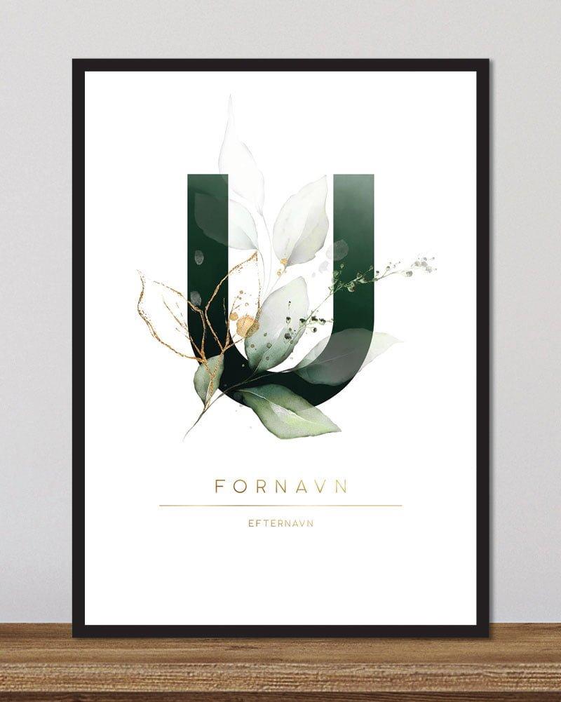 Image of   Floral bogstaver - U