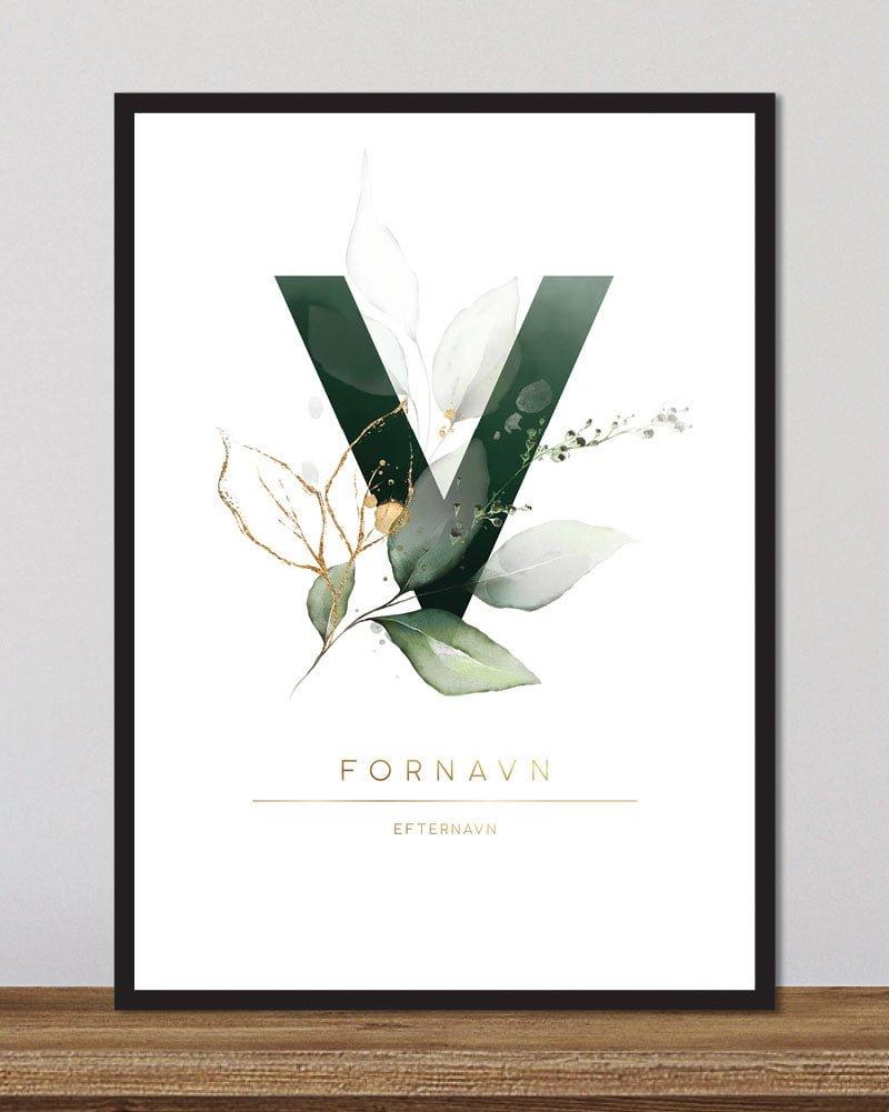 Image of   Floral bogstaver - V