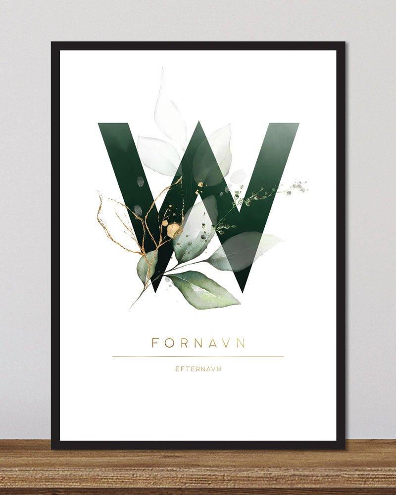 Image of   Floral bogstaver - W