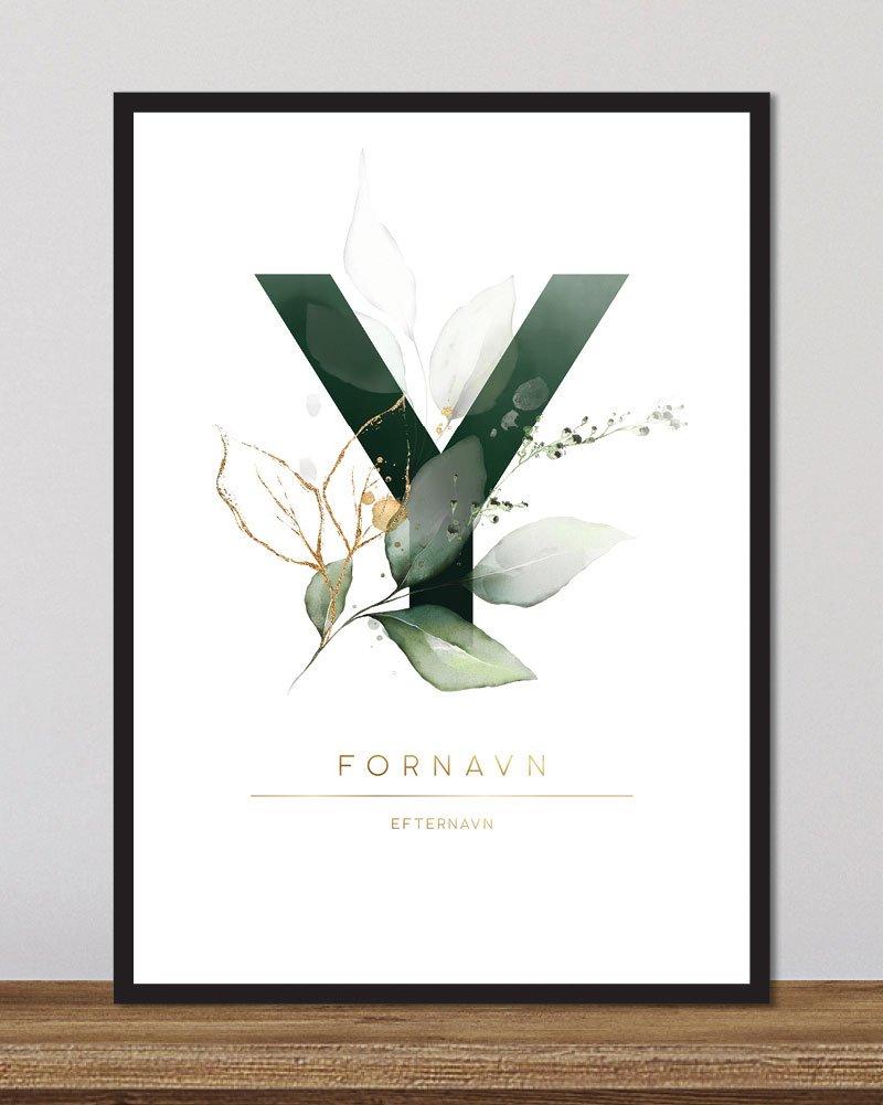 Image of   Floral bogstaver - Y