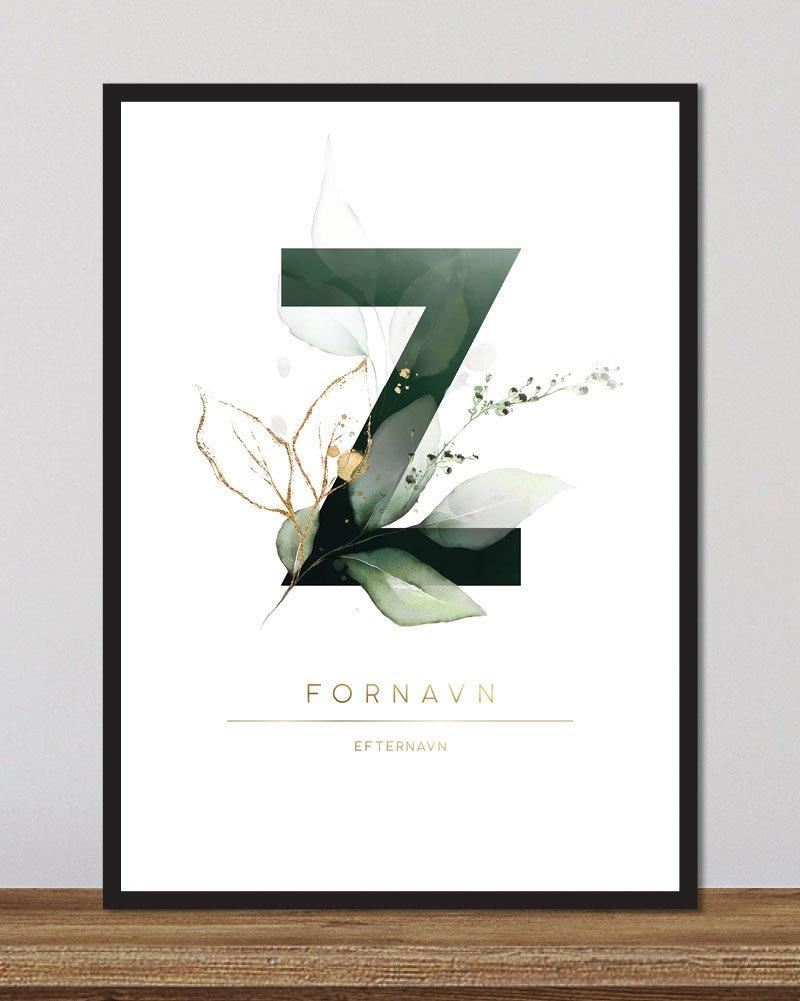 Image of   Floral bogstaver - Z