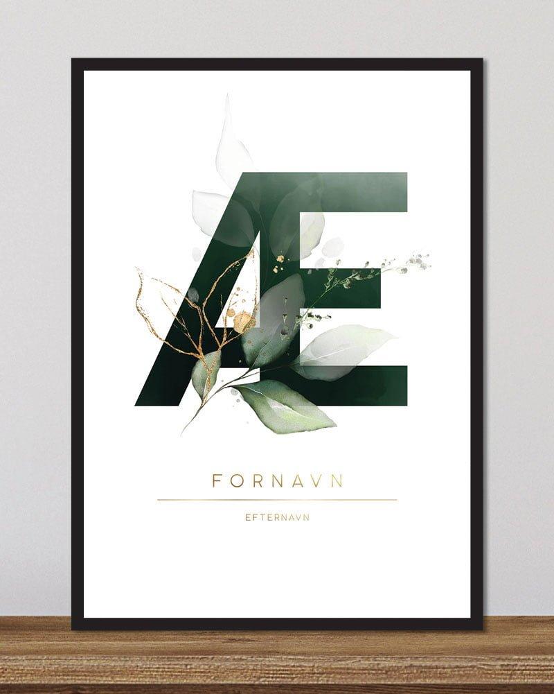 Image of   Floral bogstaver - Æ