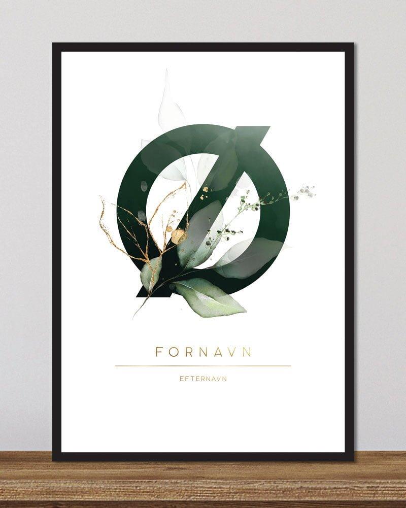 Image of   Floral bogstaver - Ø