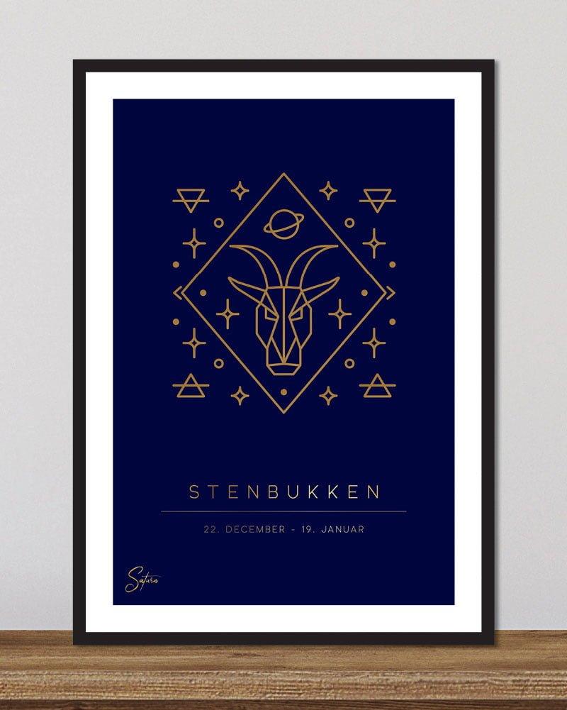 Stjernetegn stenbukken - dyb blå