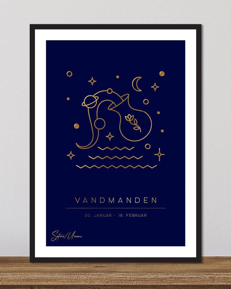 Stjernetegn vandmanden - dyb blå