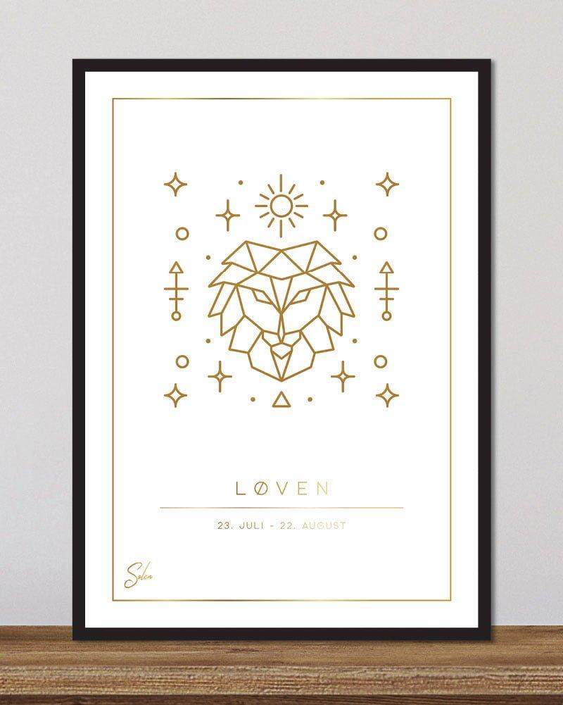 Stjernetegn løven - hvid