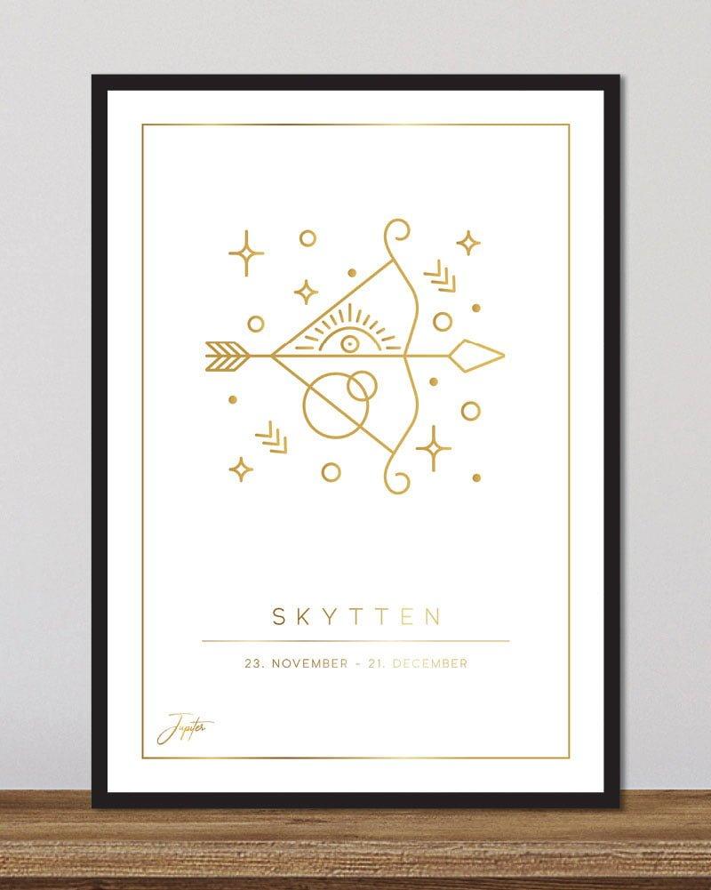 Stjernetegn skytten - hvid
