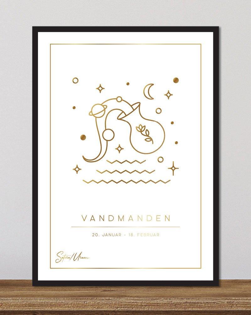 Stjernetegn vandmanden - hvid